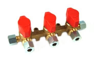 Dreiwege Verteilerblock 8mm RVS 8mm