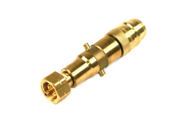 2in1 adaptador de boquilla de suministro Euronozzle & Bayoneta con niple integrado para llenar cilindros de gas con rosca izquierda W21,8