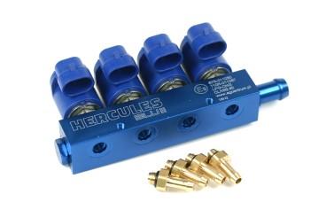 Hercules Blue 4 Zylinder Rail inkl. Düsen
