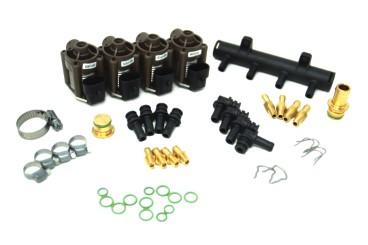 AC rampa de inyección W03 de 4 cilindros incl. material de montaje
