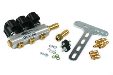 AC W01-3 rail d'injection pour 3 cylindres, matériel de montage inclus