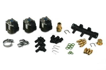 AC W03-3 rail d'injection pour 3 cylindres, matériel de montage inclus