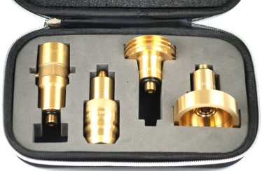 DREHMEISTER adapter set in case for gas cylinder (M10/short)