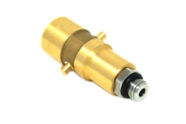 DREHMEISTER Bayonet filling point adapter M14 brass with stainless steel connection, L=67 mm