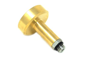 DREHMEISTER DISH filling point adapter M14 brass with stainless steel connection, L=67 mm