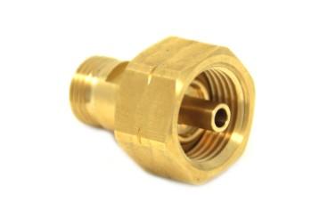 DREHMEISTER Adapter für Gasflaschenanschluss W21,8 x 1/14 LH
