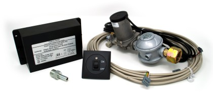 Regleranlage 30 mbar 1,5kg/h inkl. Crash Sensor (Gasnutzung während der Fahrt)