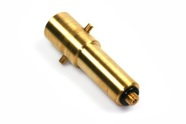 Bayonet filling point adapter 10mm in extra long version (103 mm), brass