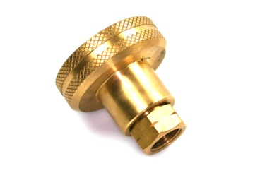 Adaptador de boquilla de suministro DISH para el llenado de cilindros de gas de 4 kg - rosca izquierda 3/8