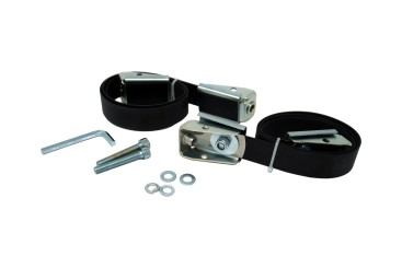 2 stainless steel straps with turnbuckle