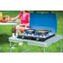 CAMPINGAZ Zweiflamm-Tischkocher 400SG 2x2200 Watt inkl. Schlauch + Grillroste