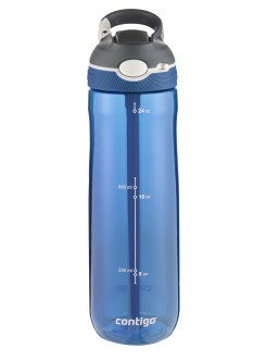 Contigo Ashland Trinkflasche, Wasserflasche mit Strohhalm 720ml (Monaco Grey)