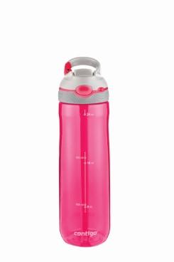 Contigo Ashland Trinkflasche, Wasserflasche mit Strohhalm 720ml (Sangria White)