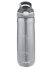 Contigo Ashland Trinkflasche, Wasserflasche mit Strohhalm 720ml (Smoke Grey)