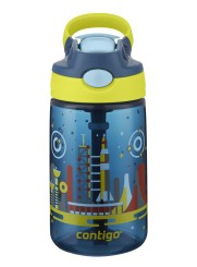 Contigo Gizmo Flip Nautical Space Trinkflasche Kinder mit Strohhalm 420ml