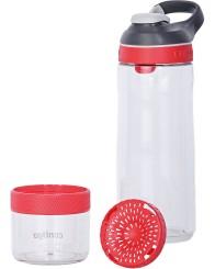 Contigo Autoseal Cortland Infuser Trinkflasche, Wasserflasche (für Obstzugabe) 770ml (Clear Watermelon)