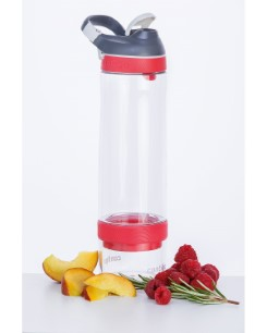 Contigo Autoseal Cortland Infuser drinking bottle, water bottle (for fruit addition) 770ml (Clear Watermelon)