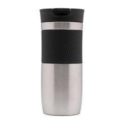 Contigo Snapseal Byron Thermobecher, Kaffeebecher to go 470ml (Stainles Steel)