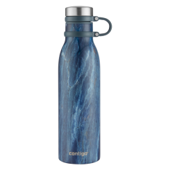 Contigo Matterhorn Couture hydration bottle, stainless steel drinking bottle Thermalock 590ml (Blue Slate)