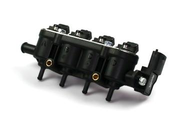 Landi Renzo MED Einspritzrail 4 Zylinder schwarz GI25-65 mit Sensor