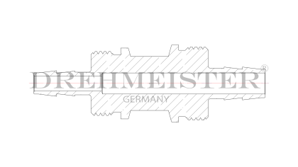 DREHMEISTER Einschraubverschraubung für Flexleitung Ø 8mm / Ø 6mm (ohne Überwurfmuttern und Schneidringe)