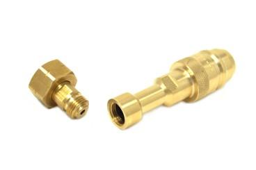 DREHMEISTER Euronozzle LPG Adapter, Gasflaschen Adapter W21,8x1/14 LH - 129mm