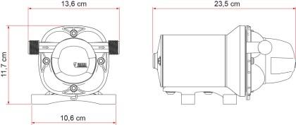 Fiamma Aqua F Wasserpumpe 12V - 10L - 1,5 bar