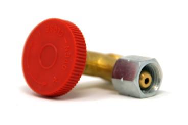Gas Regulierventil 90° G 1/4 LH-ÜM x G 1/4 LH-KN