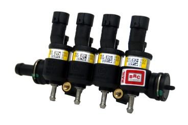 BRC 4 Zylinder Einspritzrail IN03 gelb (Kunststoff)