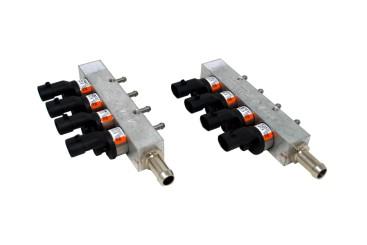 BRC 8 (4+4) Zylinder Einspritzrail IN03, orange