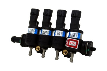 BRC 4 Zylinder Einspritzrail IN03 blau (Kunststoff)
