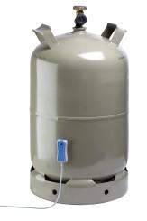 GASLEVEL® CLASSIC Gasflaschen Füllstandsanzeige, Gas Füllstandsanzeige mit externem Display + LED Anzeige