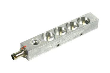 BRC Injektorleiste 4 Zylinder mit Drucksensoranschluss (alte Ausführung)
