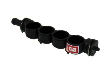 BRC Injektorleiste (Kunststoff) 4 Zylinder (neue Ausführung)