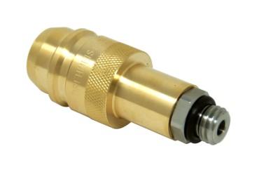 DREHMEISTER Euronozzle LPG Adapter, Gasflaschen Adapter zum Befüllen von Gasflaschen W21,8x1/14
