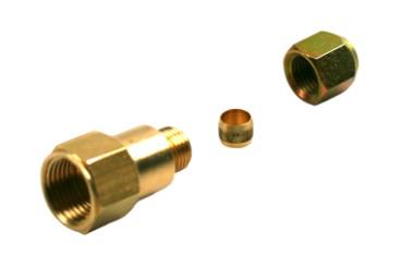 DREHMEISTER adaptador de llenado 1/2 SAE manguera de llenado a tubo de cobre de 8 mm - ancho 1/4