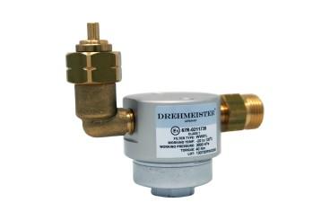 DREHMEISTER Gasflaschenfilter Smart 21,8 LH x G12 gerade -90° gewinkelt vertikal