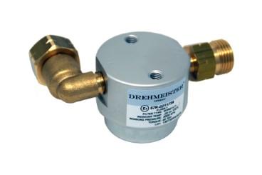 DREHMEISTER Gasflaschenfilter Smart 21,8 LH x G12 gerade -90° gewinkelt horizontal