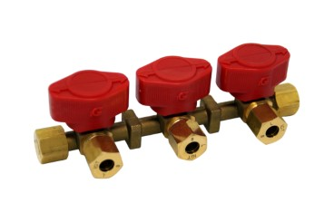 Dreiwege Verteilerblock LPG Gas 8mm RVS 8mm