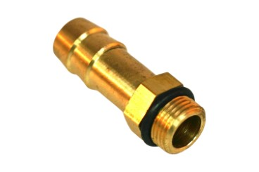 Boquilla roscada (rampa de inyección) M12x1 hexagonal D. 12 mm L. 37 mm
