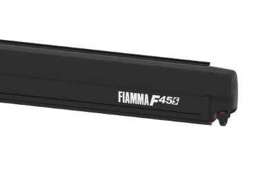 FIAMMA F45S Awning Camper Van - 260 for PSA, case black, canopy colour Royal Grey