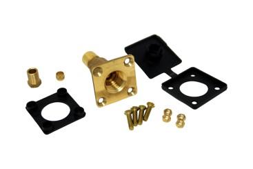 Boquilla de suministro recta de base plana W21,8 para tubería de cobre de 8 mm