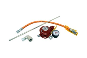 GOK Basic oven connection set with low-pressure regulator 50 mbar