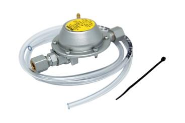 GOK Vordruckregler 30 mbar ->50 mbar 0,8 kg/h 2 x RVS 8 mm