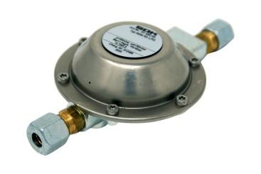 GOK Vordruckregler 50 mbar ->30 mbar 1,5 kg/h 2 x RVS 8 mm