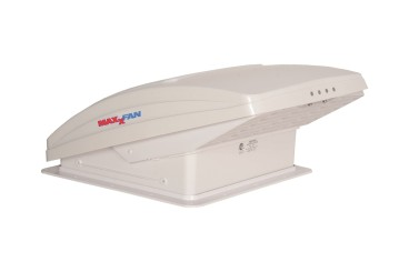 Maxxair Maxxfan Deluxe Dachhaube, 40x40 cm, weiß (Lüften während der Fahrt)