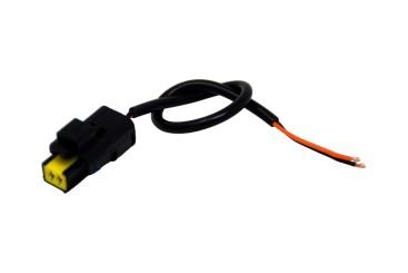 Sicma fiche 2-PIN avec câble de 20cm, étanche