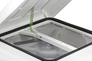 Fiamma Turbo-Vent Dachhaube 40x40 cm, weiß inkl. Ventilator