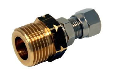Verbindungsstück W21.8L (Außengewinde) x 8mm RVS