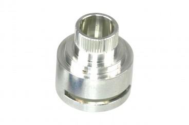 Vialle Injektorhalter gestuft mit O-Ring und Stützring